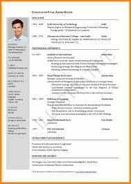 5 Cv Samples For Job Application Prome So Banko
