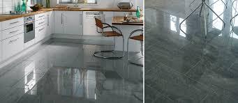 eagle dark grey polished porcelain floor tiles on kitchen floor image