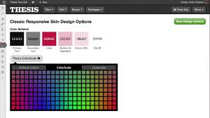 Thesis Skin Design Page by DIYthemes