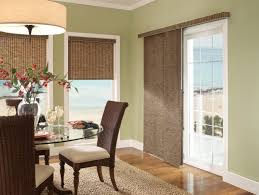 dining room window treatment ideas with with brown vertical blinds and window roman shade home furniture vertical blind for sliding glass door