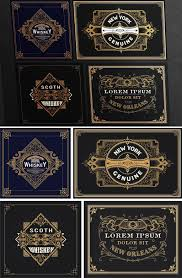 4 Vintage Style Gold Label Layouts Buy This Stock Template And