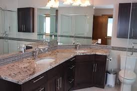 interesting bathroom corner vanity cabinets with corner bathroom vanity powder room with chocolate cabinets corner