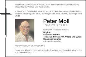 Traueranzeige von Peter Moll   schwaebische.de Trauerportal