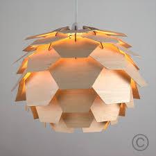 Modern Wood Artichoke Style Ceiling Pendant Light Lamp Shade Fitting Lights  NEW