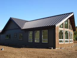 brown wood and Metal Barns With Living Quarters For Best Garage Idea