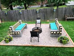 cinder block furniture.  Furniture Nice Cinder Block Furniture Backyard Intended