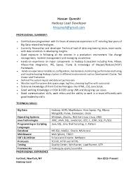 Java Web Sphere Developer Resume Classy Hadoop Resume