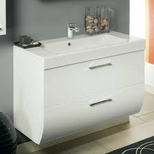 2 drawers vanity cabinet with self sink