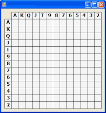 Blank Control Chart Forms A 13x13 Grid Poker Hand Chart Windows Forms User Control