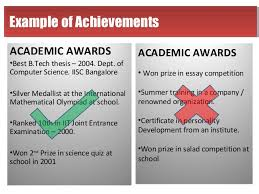 academic accomplishments