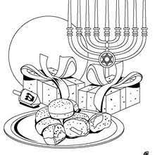 Menorah Coloring Pages