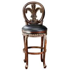 fleur de lis bar stools. Hillsdale Furniture Fleur De Lis 31 In. Warm Cherry Swivel Cushioned Bar Stool Stools A