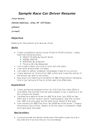 Race Car Driver Resume Sample Charming Resume For Race Car Drivers Contemporary Entry Level 1