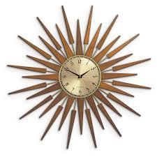 welby wall clock retro sunburst wall clock sunburst clock