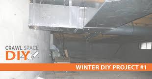 winter diy project crawl space encapsulation