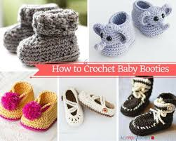 Crochet Booties Pattern Adorable How To Crochet Baby Booties With 48 Patterns AllFreeCrochet