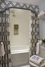 Bathroom valance curtains Decorating Ideas Shower Curtainvalance Love This Idea Instantaneously Makes Any Bathroomshower Look Nicer Pinterest How To Make Valance To Go Above The Shower Curtain Bathroom
