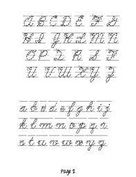 Cursive Letters Chart Cursive Letters Chart