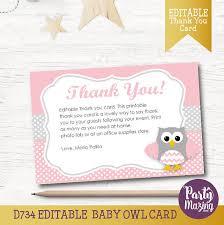 Simba Lion King Baby Shower Custom Thank You Card Nala Pink Owl Baby Shower Thank You Cards