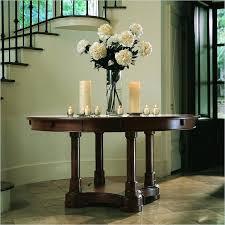 half round entryway table