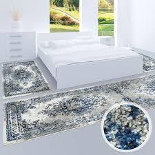 Bettumrandung Teppich Flachflor Kurzflor Läufer Klassisches Design