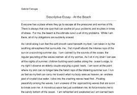 descriptive essay descriptive essay outline example images descriptive essay about the beach at night