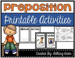 Preposition Printable Activities