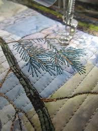 1443 best Landscape and pictorial quilts images on Pinterest ... & Barbara Strobel Lardon Art quilts: Pine Needles Adamdwight.com