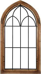 With a customizable rustic touch to your home your friends and family will love it. Amazon Com Kate And Laurel Rennell Wood And Metal Rustic Window Pane Arch Wall Decor Furniture Decor