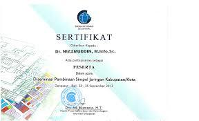 Sertifikat Pelatihan Index Of Nizamuddin Data Sertifikat Pelatihan