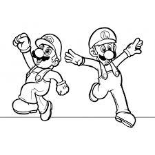 Disegno Di Mario E Luigi Da Colorare Per Bambini