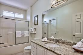 guest bathroom with granite countertop