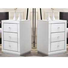 bedside table with storage. Delighful Table Image Is Loading 2xChestOf3DrawersHighGlossWhite Throughout Bedside Table With Storage E