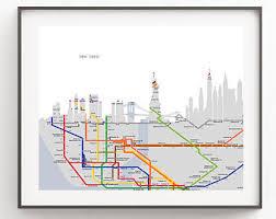 new york city subway map wall art