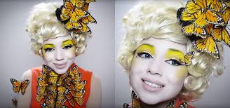 hunger games diy effie trinket erfly makeup costume for