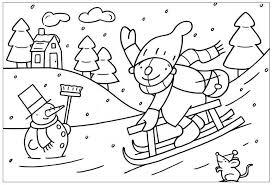 Kleurplaat Pompom Kerst