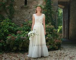 simple wedding dress etsy