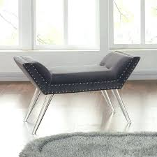 gray vanity stool grey vanity stool ottoman bench in gray tufted velvet with pics awesome upholstered gray vanity stool