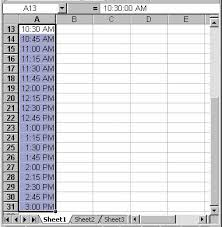 Schedule Table Maker Creating A Class Schedule Using Excel
