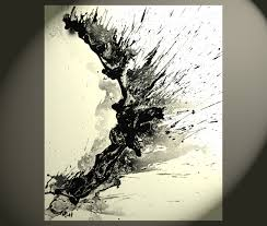 abstract black and white painting 1955 032814 modern art wall decor