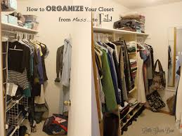 organizing your closet from top to bottom