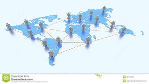 world map with global communication stock illustration  image
