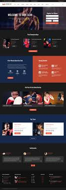 sport site templates boxing responsive website template