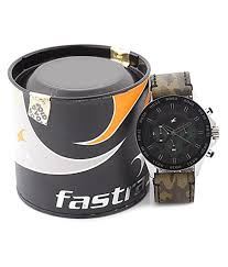 fastrack army print chronograph watch for men 3072sl09 buy fastrack army print chronograph watch for men 3072sl09