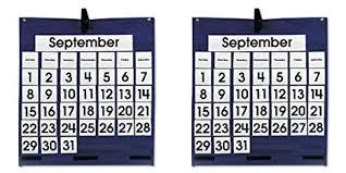 Carson Dellosa Monthly Calendar Pocket Chart Pocket Chart 5605 2 Packs