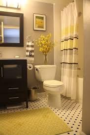 Grey Black And Yellow Bathroom