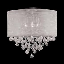 shabby chic chandeliers uk unique new 4 bulb drum shade flush mount crystal chandelier