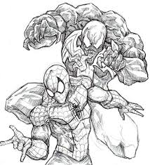 Small Picture Free Coloring Pages Of Venom Agent Venom Coloring Pages Venom