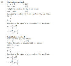 multiplying equation 2 by 2 we obtain 4x 4y 4 3 adding equation 1 and 3 we obtain 7x 14 x 2 substituting the value of x in equation