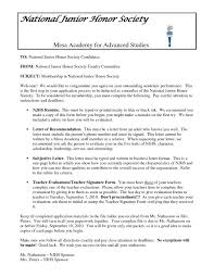 National Honor Society Sample Recommendation Letter 17 National Junior Honor Society Letter Of Recommendation Template